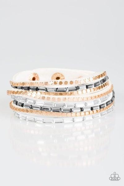 This Time With Attitude White Bracelet