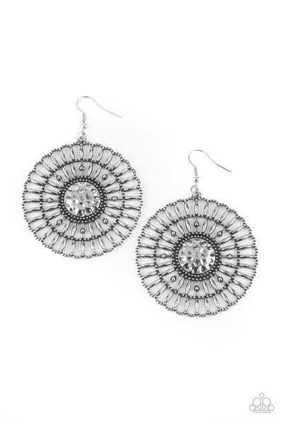 Rustic Groves Silver Earrings
