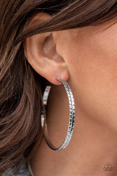 TREAD All About It Silver Hoops