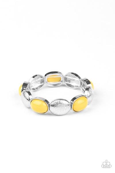 Decadently Dewy Yellow Bracelet