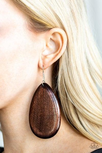 Beach Bride Brown Earrings
