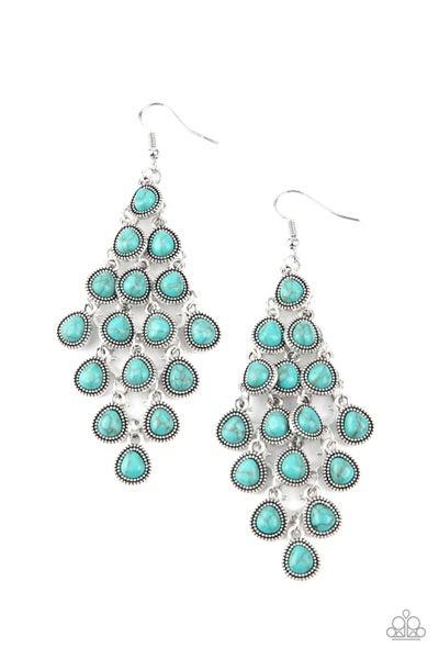 Rural Rainstorms Turquoise Earrings