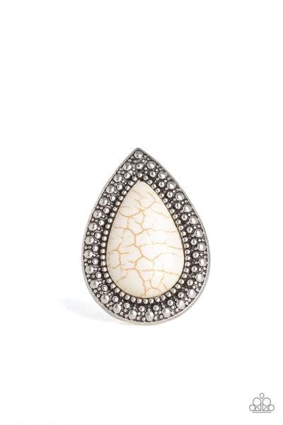 Santa Fe Storm White Ring