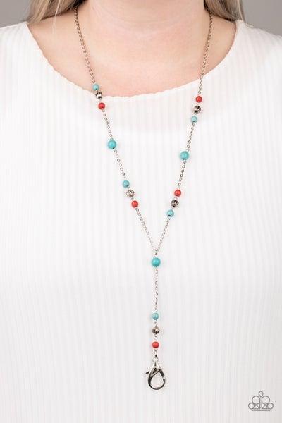 Sandstone Savannahs Red Turquoise Lanyard