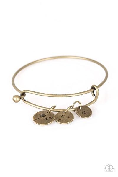 Dreamy Dandelions Brass Bracelet