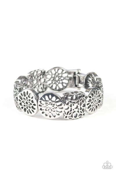 Mandala Mixer Silver Bracelet