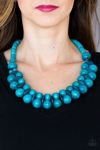 Caribbean Cover Girl Blue Necklace