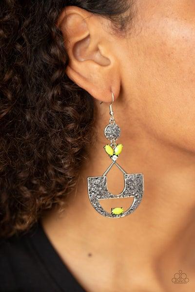Modern Day Mecca Yellow Earrings