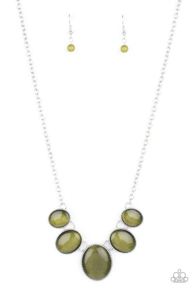 One Can Only Gleam Green Necklace