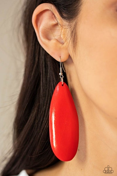 Tropical Ferry Red Earrings