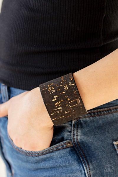 Up To Scratch Black Bracelet