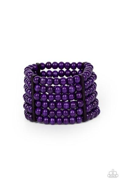 Tanning in Tanzania Purple Bracelet