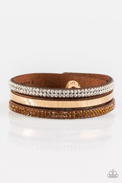 I Mean Business Brown Bracelet