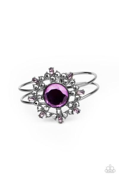 Elaborate Elegance Purple Gunmetal Bracelet
