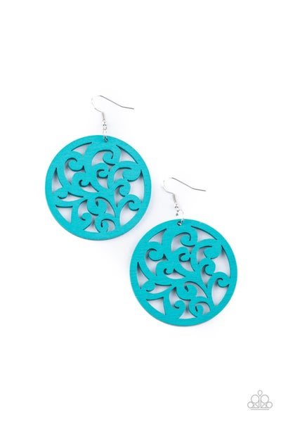 Fresh Off The Vine Blue Earrings