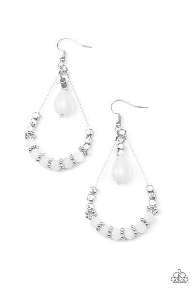 Lovely Lucidity White Earrings