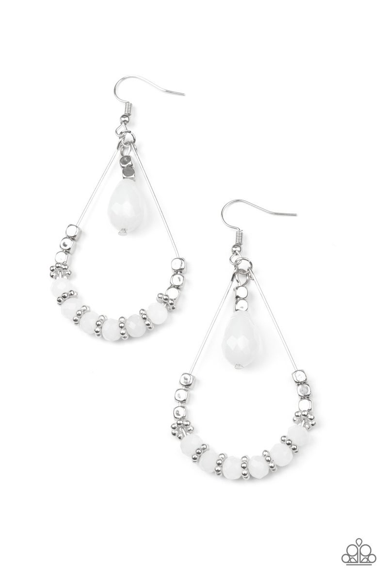 Lovely Lucidity White Earrings