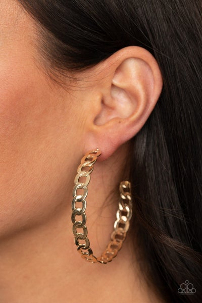 Climate CHAINge Gold Hoops