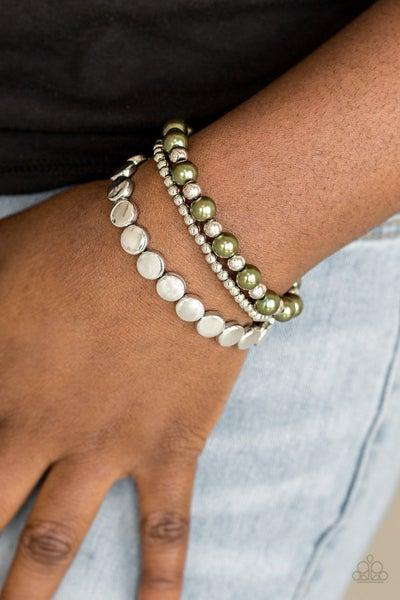 Girly Girly Glamour Green Bracelet