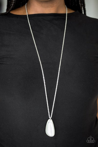 Magically Modern White Necklace