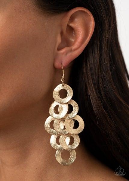 Scattered Shimmer Gold Earrings
