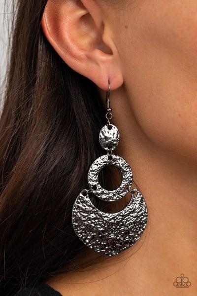 Shimmer Suite Gunmetal Earrings