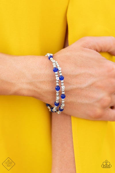 Ethereally Entangled Blue Bracelet