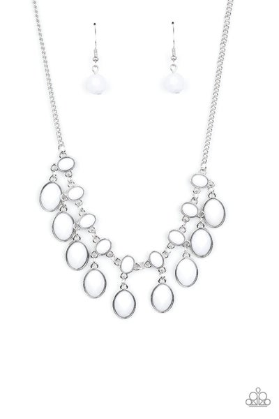 Lady Of The Powerhouse White Necklace