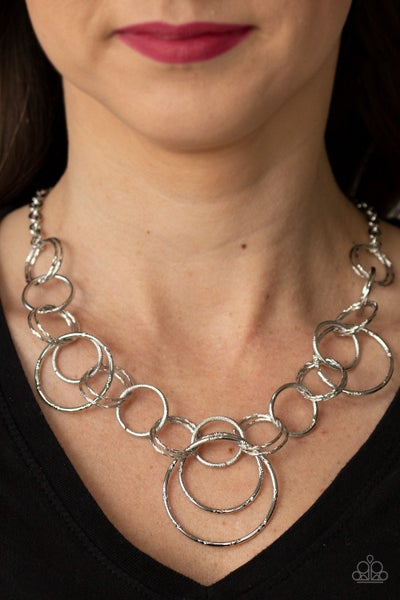 Ringing Relic Silver Necklace