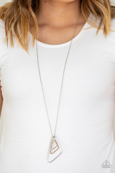 Triple Trifecta Brown Necklace