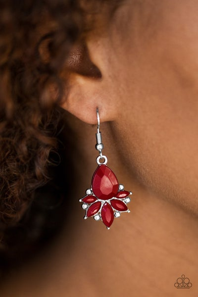 Glam Up Red Earrings