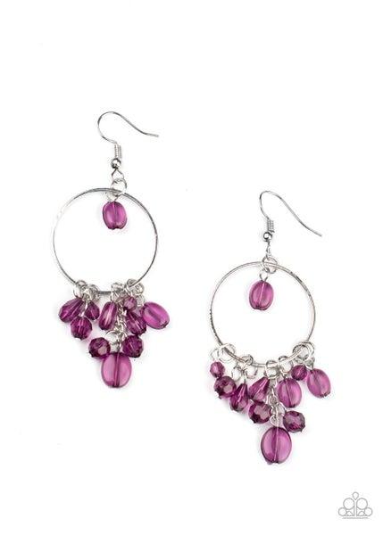 Where The Sky Touches The Sea Purple Earrings