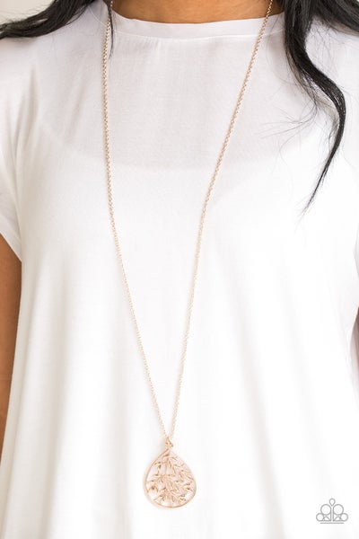 Bough Down Rose Gold Necklace