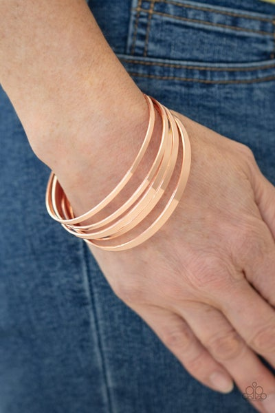 Ensnared Copper Bracelet
