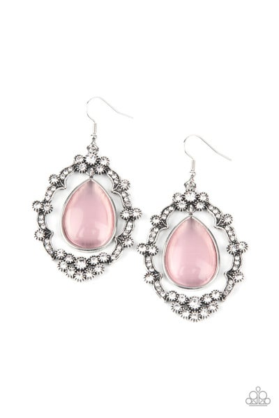Icy Eden Pink Earrings