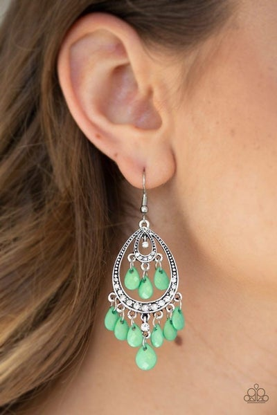 Gorgeously Genie Green Earrings