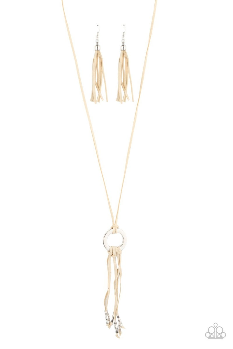 Feel At Homespun White Necklace