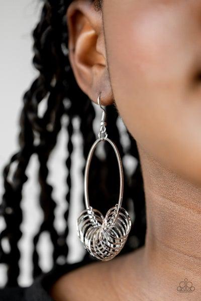 Halo Effect Silver Earrings