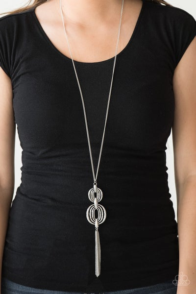 Timelessly Tasseled Silver Necklace
