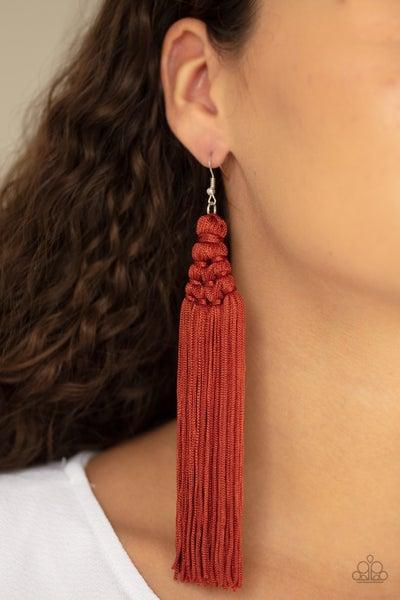 Magic Carpet Ride Brown Earrings