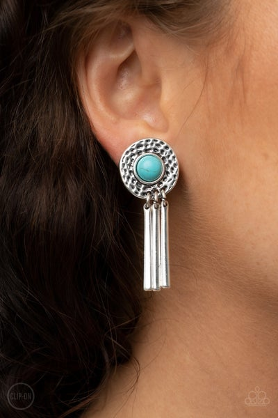 Desert Amulet Turquoise Clip Ons