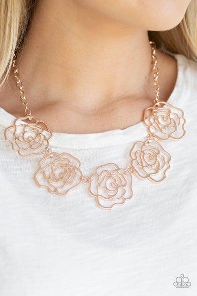 Budding Beauty Rose Gold Necklace