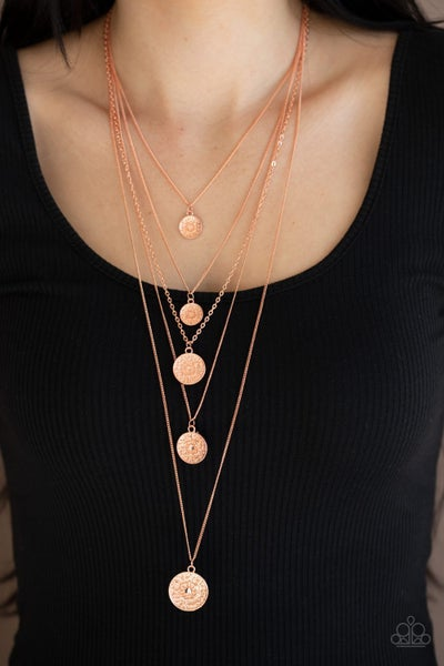 Medallion Marvel Copper Necklace
