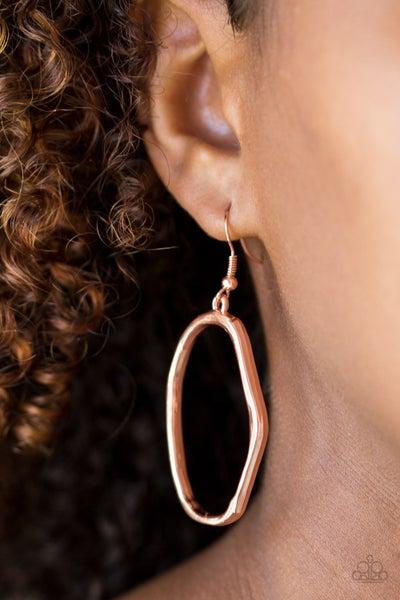 Eco Chic Copper Earrings