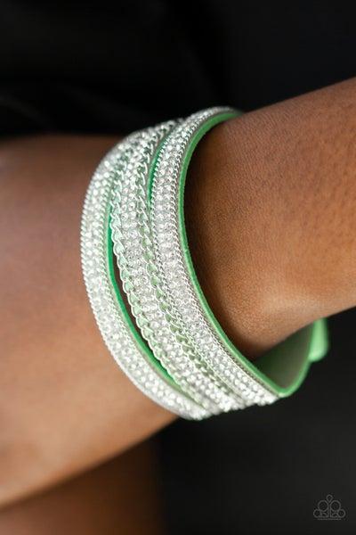 Dangerously Drama Queen Green Bracelet