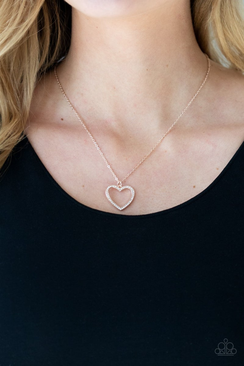 Glow By Heart Rose Gold Necklace