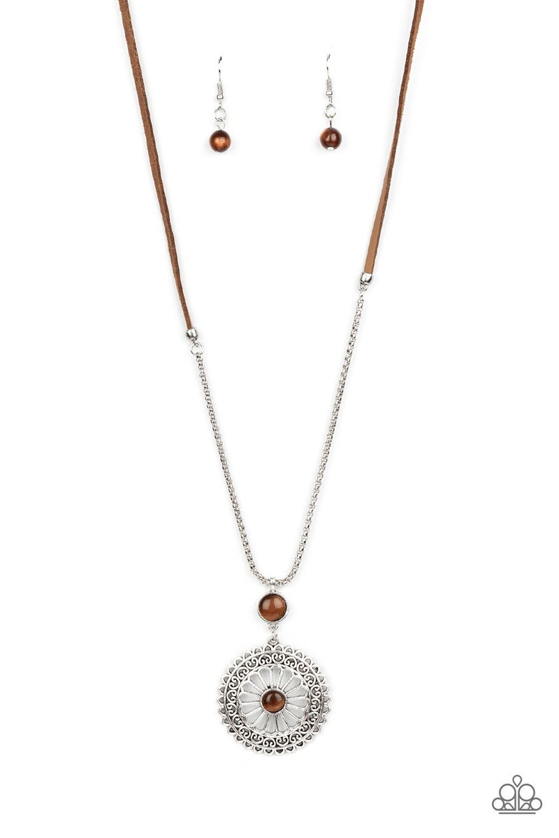 Where No Mandala Has Gone Before Brown Necklace