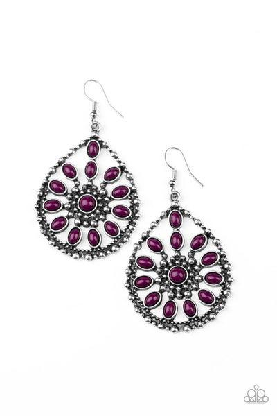 Free To Roam Purple Earrings