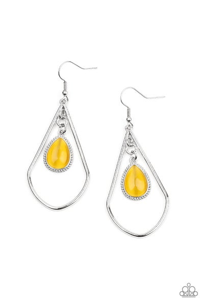 Ethereal Elegance Yellow Earrings
