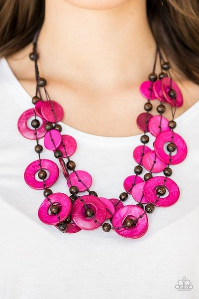 Catalina Coastin' Pink Necklace
